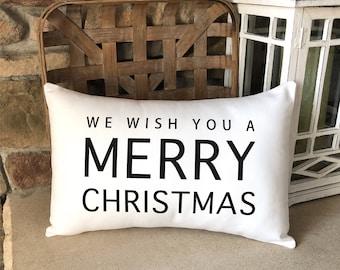 Christmas Pillows / Farmhouse Christmas / Christmas Gift Ideas for Parents / Farmhouse Christmas Decor / Christmas Pillow, Throw Pillow