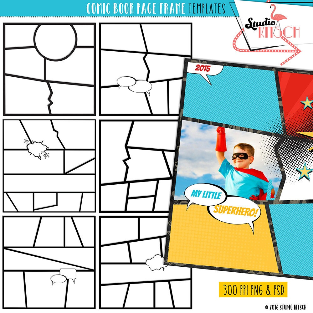 comic book template psd - Romeo.landinez.co