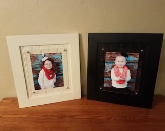 8x10 picture frame hardwood frame with beadboard back