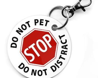 SERVICE DOG Do Not Pet Do Not Distract 2.5 inch PVC Dog Tag