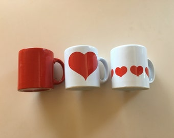 Choose One: Red or White Heart Cup Mug by Waechtersbach