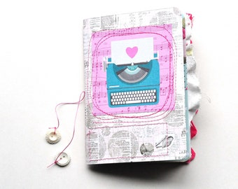 Handmade Junk Journal - Vintage - Typewriter - Boho - Single Signature - TN Insert - B6 - Journal - Writing Diary - Art Journal