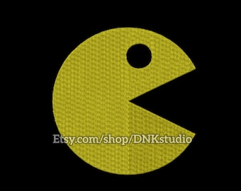 Pacman Embroidery Design - 5 Sizes - INSTANT DOWNLOAD