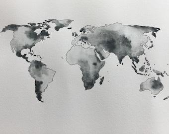 Map Mundi 1 color to choose