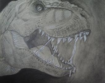 T-Rex Portrait Print