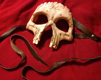 Fractured Human Skull masquerade mask