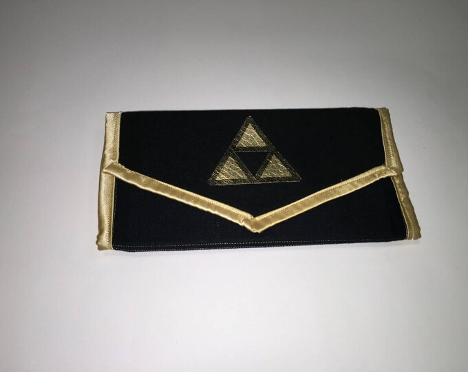 Handmade Triforce Legend of Zelda fabric wallet