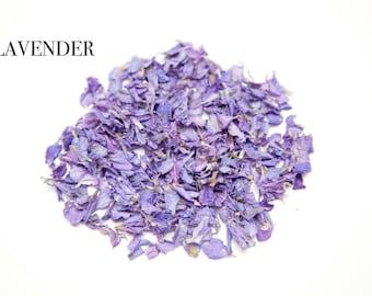 Wedding confetti Lavender biodegradable confetti petals 1 litre (Lavender delphimiums biodegrable)