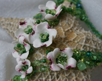 Fimo Flowers Necklace