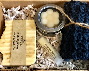 Lemon Verbena Goats Milk gift set, spa set, gift set, birthday gift set, bath set