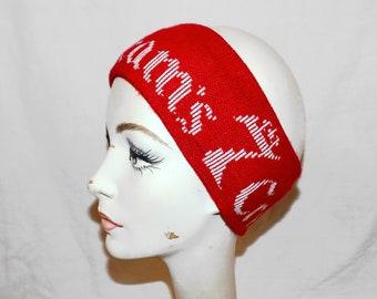 Vintage 70s Seagram's 7 Crown Ski Headband / Ear Warmer