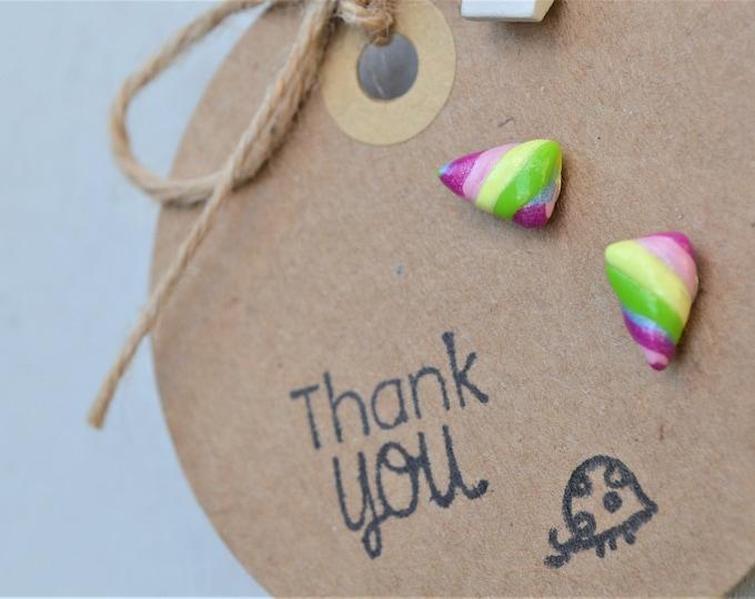 Rainbow earrings, cute gift for her, dream big, rainbow jewellery, cute earrings for her, gift for daughter, fimo rainbow earrings, birthday