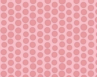 Fabric 1 Yard Riley Blake Pink Dot- sku C3366 - 1 Yard - Priscilla by Lila Tueller for Riley Blake Designs Quilting Sewing