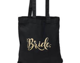 Wedding Party Black Tote Bag