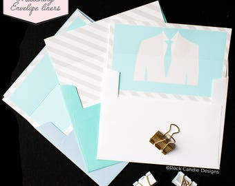 Printed Matching Envelope Liner | A2 Sized Liner | Card For Groomsman | Will You Be My Groomsman, Best Man, Man of Honor, Liner for card