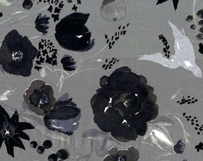 Nani Iro - Beau Yin Yang Collection - Cadeau in Light Gray Lightweight Cotton Lawn
