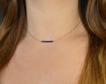 Lapis Lazuli necklace * and fine chain