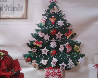 Wall Hanging - Bucilla - Nordic Christmas Tree Advent Calendar