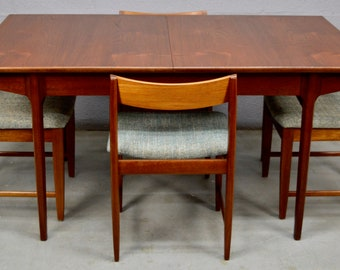 Mid-Century Dinning Table and Chairs by Bath Cabinet Makers