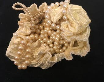 Vintage 60s Glass & Faux Pearls - Set of Four Costume Necklaces