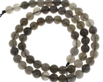 6 Pieces 6mm Labradorite Beads AA Quality