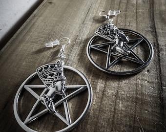 Pharaoh 666 666 Silver earrings