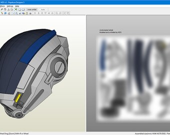 Mass Effect Andromeda v.1 Helmet DIY Pepakura