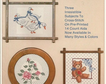 """Vintage Craft Library """"Sweet Country Charm"""" Cross Stitch Leaflet  CLEARANCE ITEM"""