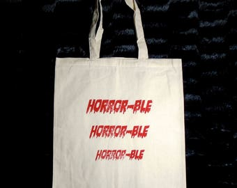 HORROR-ble Canvas Tote Bag - Horror Fan Tote