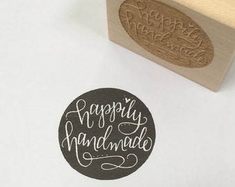 Happily Handmade rubber stamp