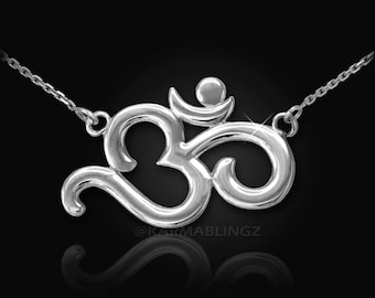 Sterling Silver Om (aum) Yoga Necklace