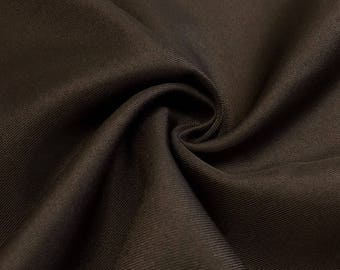 "Brown Twill 100% Polyester Diagonal Weave Fabric 58/60"" Wide Sold By the Yard"