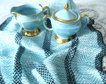 Kitchen Towel, dish towel, hand woven, tea towel, cotton towel, Aqua