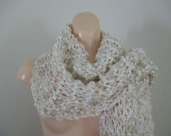 Knit Shawl Infinity Scarf Stole Knitted Wrap Wedding Shawl
