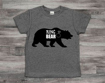 Ring Bear Shirt,Ring Bearer T-Shirt,Ring Bearer monogram name shirt,Ring Bearer gift, Ring Bearer shirt, rehearsal dinner shirt