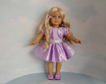 Lilac Sparkly Dress and Jacket 18 inch doll clothes