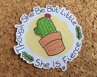 Mighty Cacti sticker