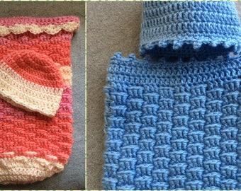 Infant Cocoon ~ Baby Sleeping Bag ~ Swaddle Sack ~ Photo Prop