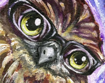 Owl Print, Nursery Art, Bird Decor, Baby Animal Lover Gift, Black Glasses, Large Print, Woodland Nursery Room Art, ACEO Card, Any Size