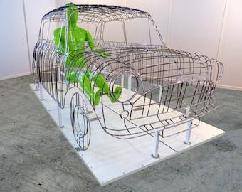 Too Mini? -Sculpture of Austin Mini metal