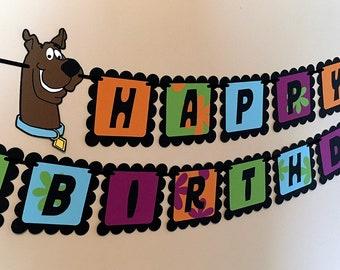 Scooby Doo Inspired Happy Birthday Banner