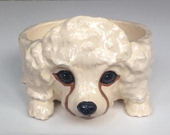 Dog Bowl, Dog Bowls, Ceramic Dog Bowl, Custom Bowl, Personalized Bowl, Ceramic Bowl, Personalised Bowl, Poodle, Pet Portrait, Poodle Gifts