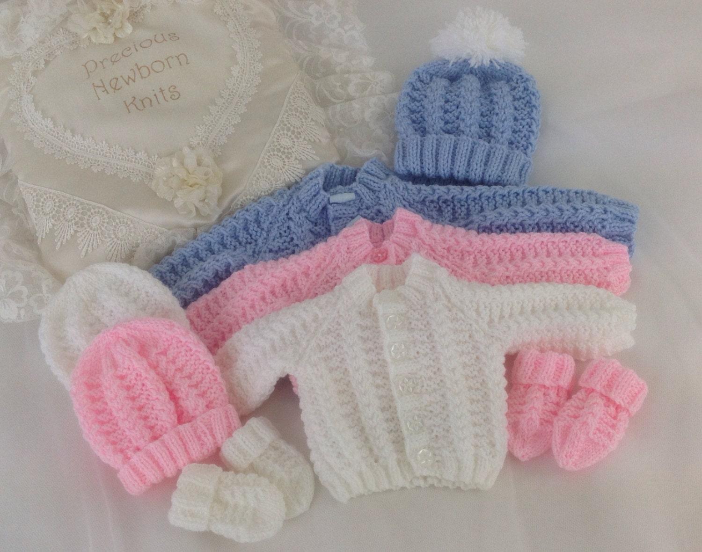 Baby Knitting Pattern Boys - Girls- Early Baby -Reborn Dolls ...