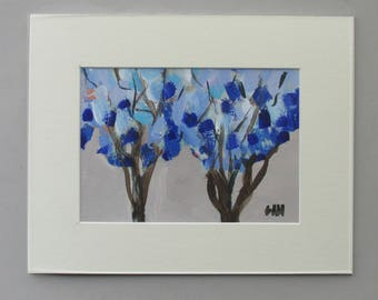 "original painting - ""Blue on Blue"" - original acrylic painting - home decor"