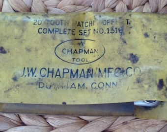 J.W. Chapman - Complete Set of Miniature 20 Ratchet & Tool Patch Offset No. 1316