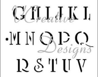 Academic Upper alphabet stencil