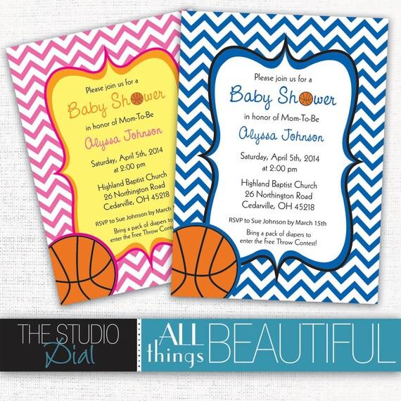 Printable cute chevron basketball themed baby shower like this item filmwisefo Choice Image