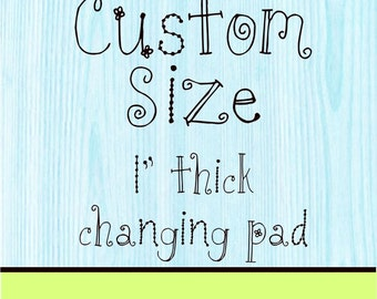 Changing Pad Cover 1 inch Flat Pad Custom Size with Zipper