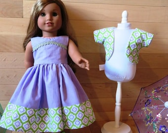 "18"" Doll Dress and shrug , fits like AG clothes"