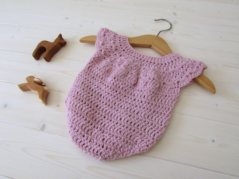 Crochet Baby Girl\'s Romper / Onesie Written Pattern